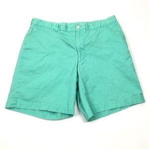Southern Tide Green Flat Front Chino Shorts
